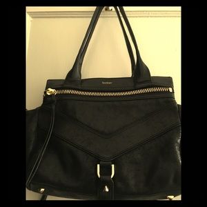 Botkier Trigger Legacy Metallic Black Shoulder Bag